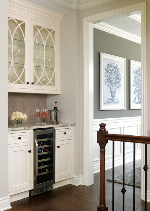 Eclipse Mullion Cabinets Transitional Kitchen Bria