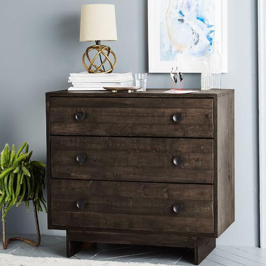 dark brown wood dresser Emmerson Reclaimed Wood 3 Drawer Dark Brown Dresser dark brown wood dresser