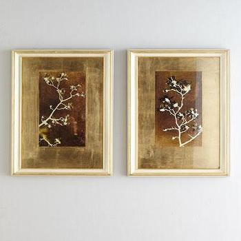 John-Richard Collection Gold Leaf Branches Prints I Horchow