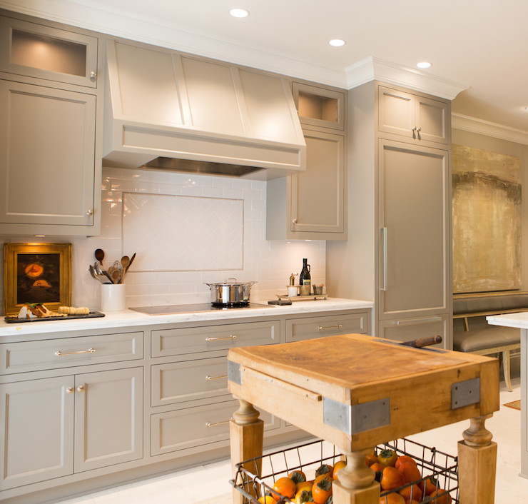 Kitchen Cabinets painted Gray - Transitional - kitchen ...