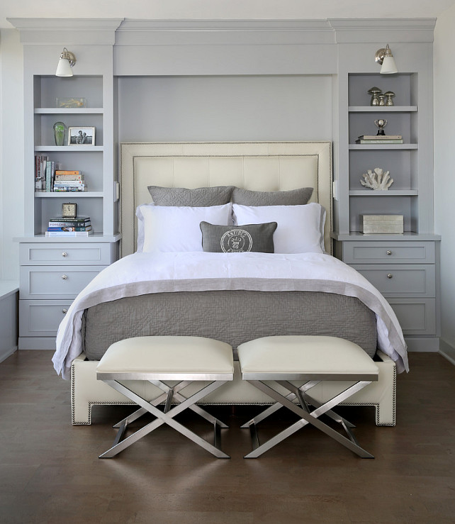 headboard bookcase transitional bedroom normandy remodeling