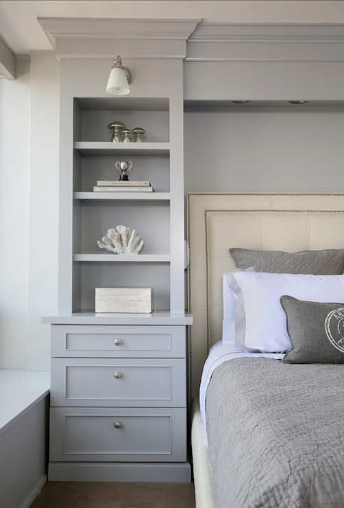 Headboard Built Ins - Transitional - bedroom - Normandy Remodeling