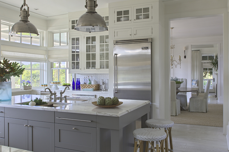 Two Sinks in Kitchen Island - Cottage - kitchen - Urban Grace Interiors
