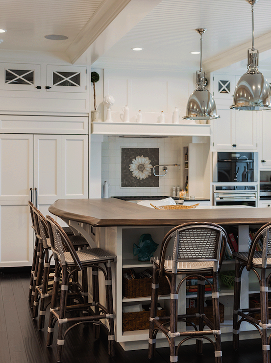 Kitchen Island Raised Breakfast Bar Design Ideas