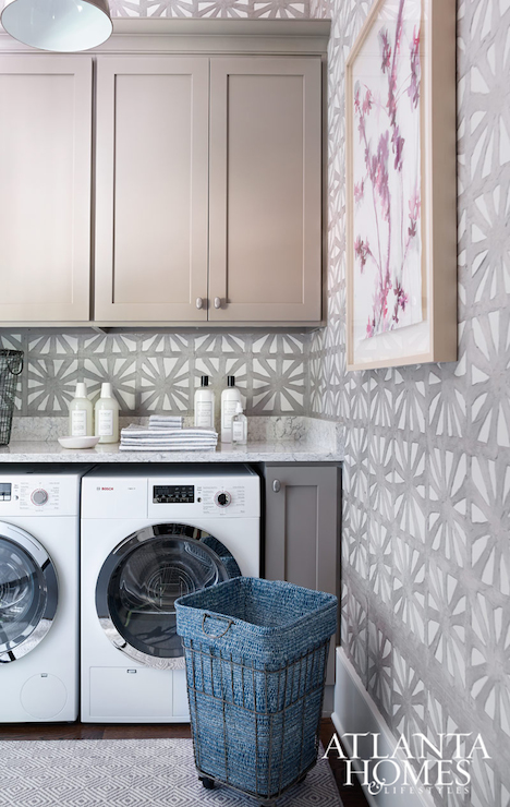recycled wallpaper transitional laundry room atlanta