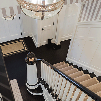 Staircase Board and Batten, Transitional, entrance/foyer, Brookes and Hill Custom Builders