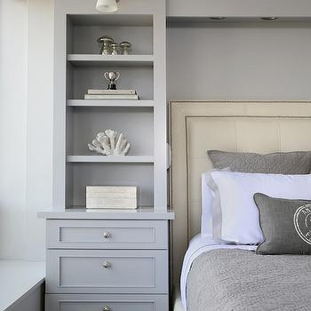 Headboard Built Ins, Transitional, bedroom, Normandy Remodeling