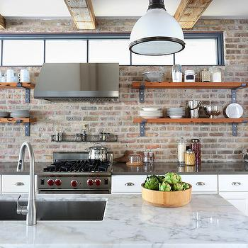 Kitchens Without Upper Cabinets Design Ideas