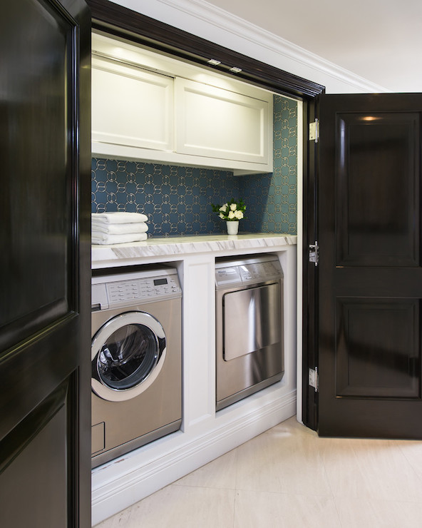 Cabinets Suspended Over Washer Dryer Design Ideas