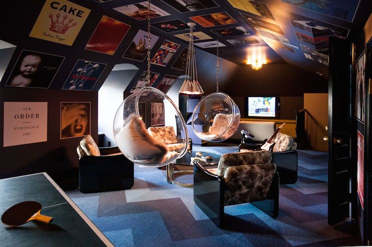 Attic Game Room Transitional Media Room Ttm Development