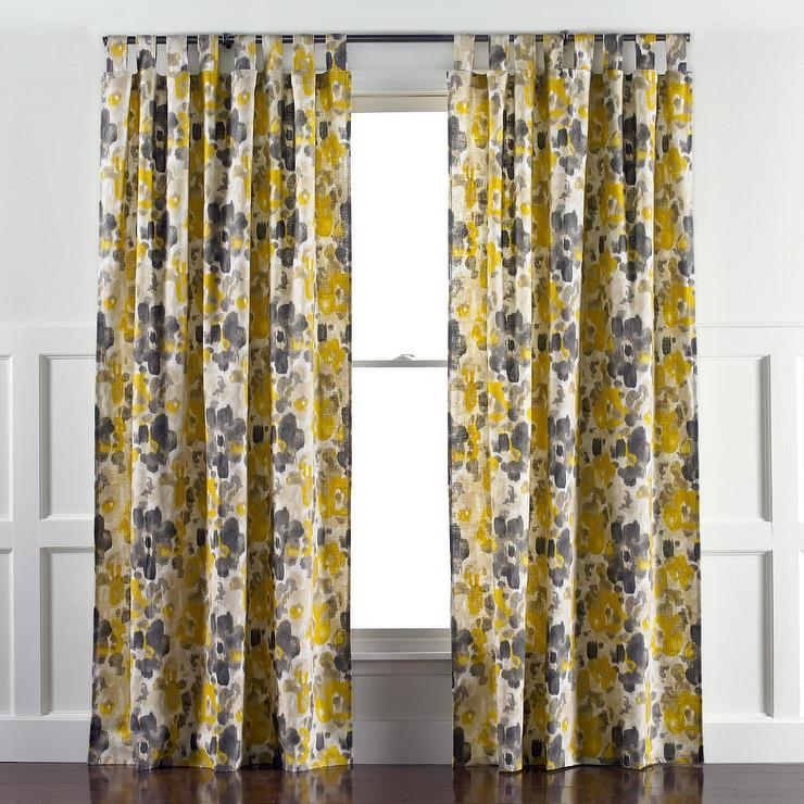DwellStudio Landsmeer Yellow And Gray Curtain Panel