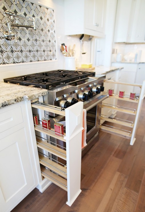 Built In Spice Racks & Built In Spice Racks - Transitional - kitchen - UV Parade of Homes