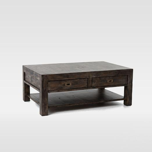Library Gray Wash Coffee Table