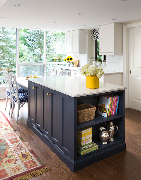 Navy Blue Kitchen Island