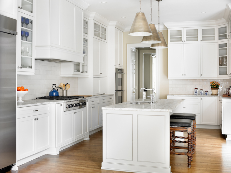 Lit kitchen cabinets contemporary kitchen marsh and - Marsh kitchen cabinets ...