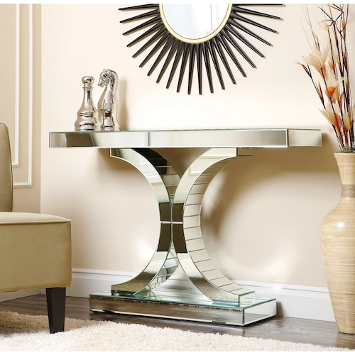 Mirrored console table look 4 less and steals and deals page 1 - Mirrored console table overstock ...