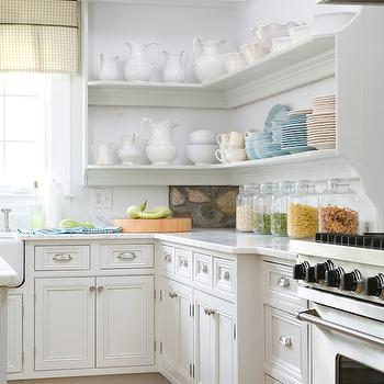 Wraparound Kitchen Shelves, Cottage, kitchen, Lebey LTD Interiors