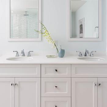 Parson Vanity Mirror, Transitional, bathroom, Rebecca Hay Interior Design