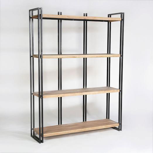 Double Frame Natural Bookshelf