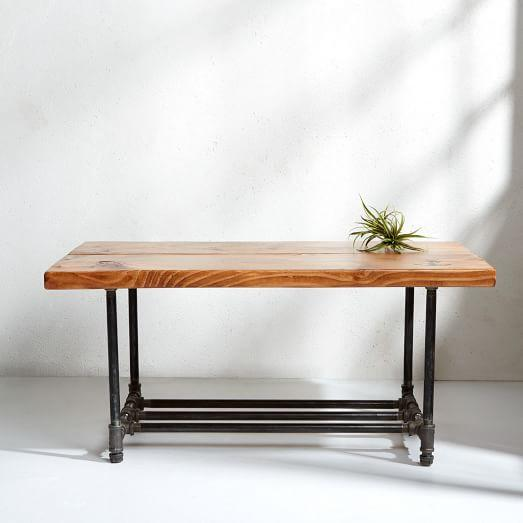 Worley Coffee Table: Antique Finish Element Coffee Table