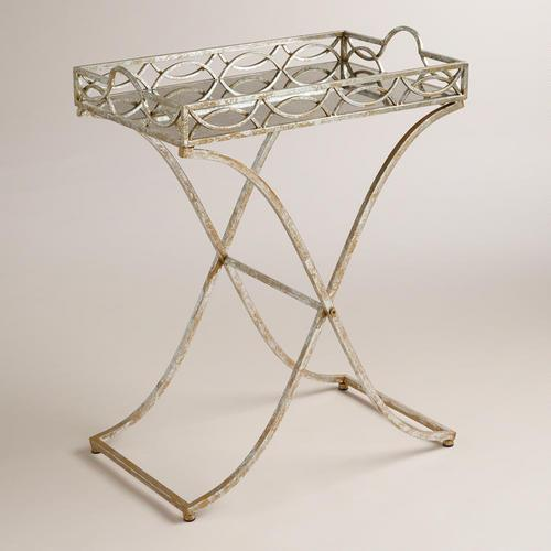 Silver And Gold Soiree Butler Tray Metal