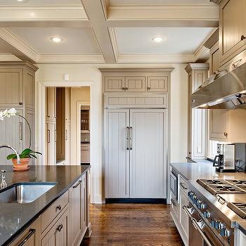 Taupe Cabinets, Transitional, kitchen, The Wills Company