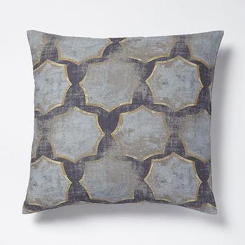 Modernist Star Raw Silk Pillow Cover I West Elm