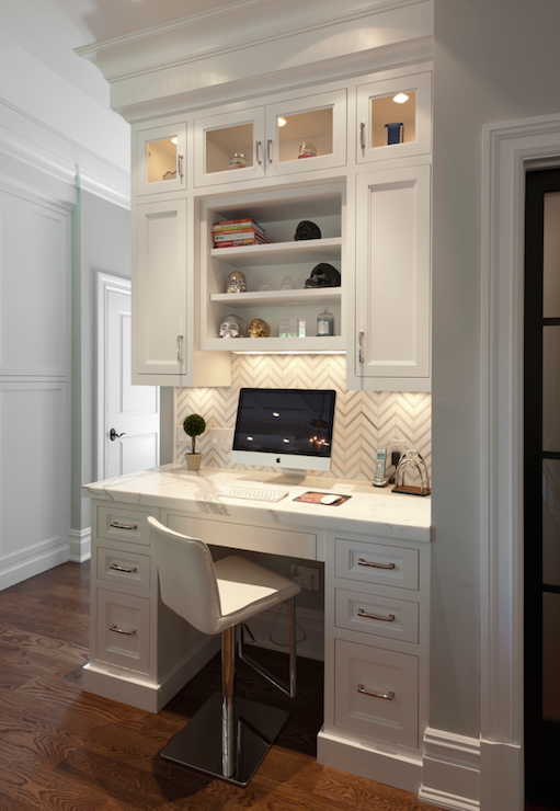 Built In Kitchen Desk Design Ideas
