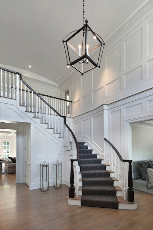 Two story foyer design ideas for Foyer staircase decorating ideas
