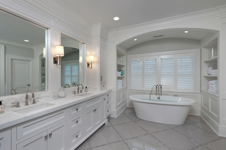Arched tub alcove design ideas for Bathroom alcove ideas