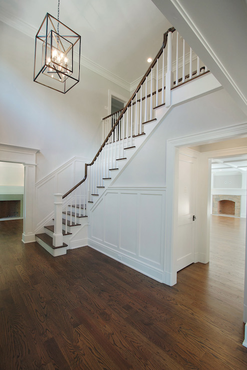 Foyer Closet Dimensions : Closet under the stairs transitional entrance foyer