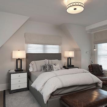 White and Grey Bedrooms, Transitional, Bedroom, Blue Water Home Builders