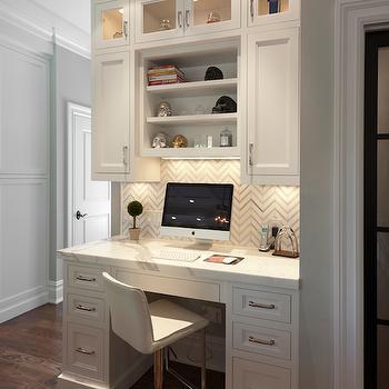 Desk in Kitchen, Transitional, Kitchen, Blue Water Home Builders