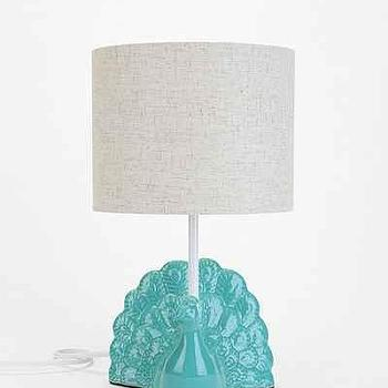 Plum & Bow Peacock Table Lamp I Urban Outfitters