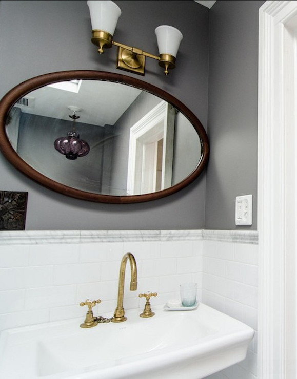 Bathroom With Brass Fixtures Vintage Bathroom