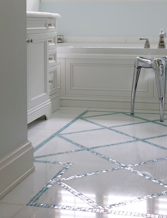 Turquoise floor tiles design decor photos pictures - Turquoise bathroom floor tiles ...