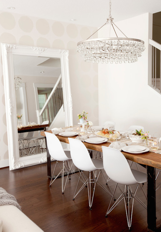 Baroque Floor Mirror - Transitional - Dining Room - The Cross Decor ...