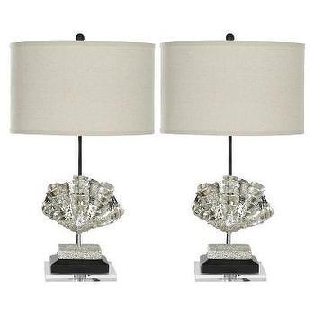 Safavieh Shell Lamp, Silver (Set of 2) I Target