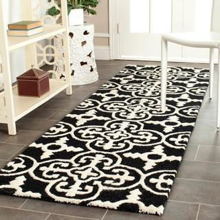 Safavieh Handmade Cambridge Moroccan Black Runner Wool Rug
