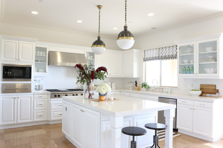 Frosty Carrina Countertops Transitional Kitchen