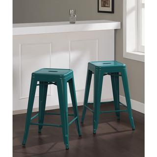 Miraculous Tabouret 24 Inch Peacock Green Counter Stools Caraccident5 Cool Chair Designs And Ideas Caraccident5Info