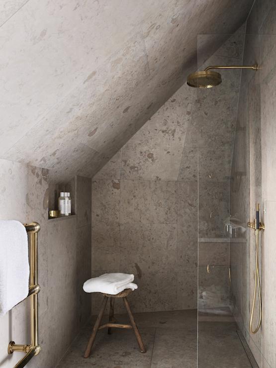 Attic Shower Ideas Transitional Bathroom Ett Hem