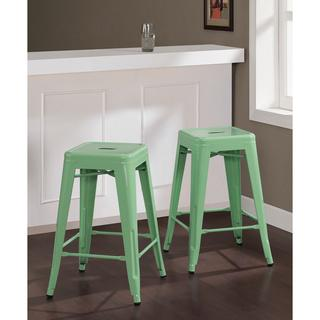 Tabouret 30 Inch Lemon Metal Bar Stools Set Of 2