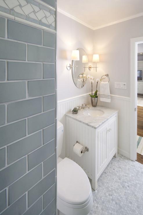 Beadboard Vanity Transitional Bathroom Lauren Shadid