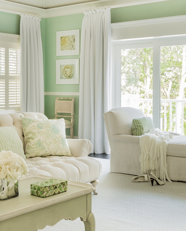 Mint Green Rooms mint green bedrooms - cottage - bedroom - brookes and hill custom