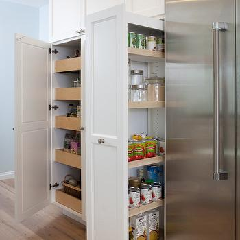 Kitchen Cabinet Stacked Pull Out Pantry Drawers Design Ideas