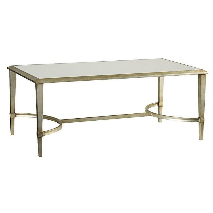 reual james padova champagne coffee table