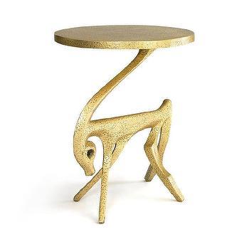 Charmant DwellStudio Gazelle Antique Gold Side Table
