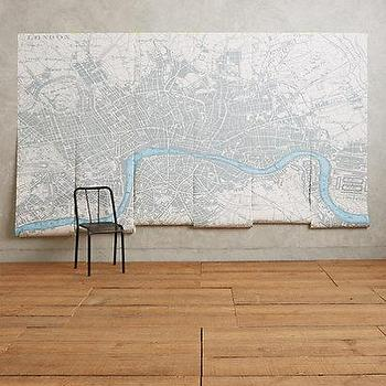 Map of chicago wall plaque unframed art wall decor for Anthropologie wall mural