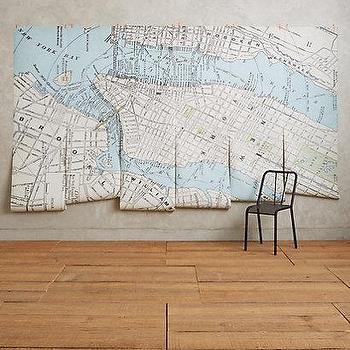 New York Map Mural I Anthropologie
